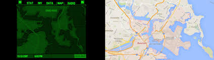 Map Of Boston Logan Airport by Here U0027s A Simple Side By Side Comparison Of The Map In The Pip Boy
