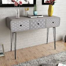 modern console table with drawers modern console table side cabinet 3 storage drawers sideboard