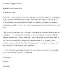 resignation letter example of resignation letter to employer