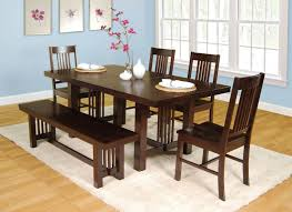 Dining Room Bench Sets Value City Furniture Dining Room Sets With Bench Mocha Stained