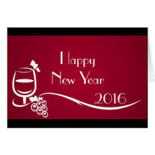 Happy New Year Business Card Wine Happy New Year Greeting Cards Zazzle