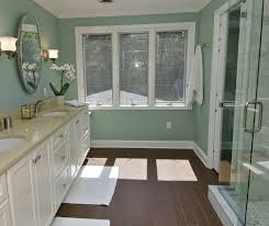 green and black bathroom