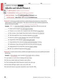 adj and adv phrases adverb adjective