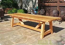 Diy Outdoor Patio Table Build Outdoor Patio Furniture Aussiepaydayloansfor Me