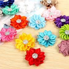 bow for hair 20pcs set diy decoration crafts ribbons satin flower hair bow for