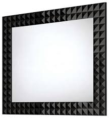 diamond wall framed mirror contemporary bathroom mirrors by