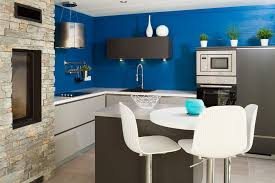 cuisine mur bleu kitchen mur bleu contemporary cuisine contemporaine with kitchen and