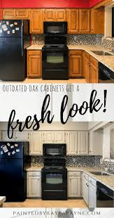 update oak kitchen cabinets outdated oak cabinets get a fresh look painted by payne