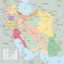 Bosphorus Strait Map Political Iran Map Tehran Asia