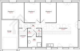 plan maison simple 3 chambres plan maison plain pied avec 3 chambres et garage ooreka plan avec et