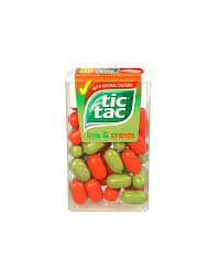 tic tac tic tac lime and orange 24 x 18g tubs chocolate buttons