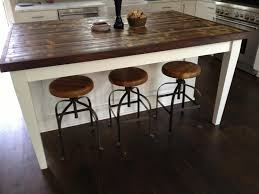 white kitchen wood island 15 reclaimed wood kitchen island ideas rilane