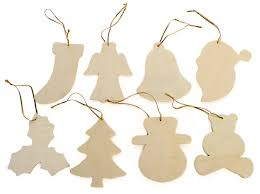 pkg 24 unfinished wood ornaments assortment wood
