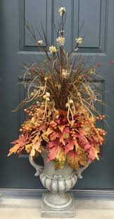 fall urn insert or urn filler golds purples reds and oranges