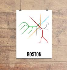 Subway Map Boston by Boston Subway