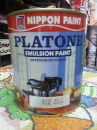 qoo10 nippon paint 1l platone white emulsion for indoor walls