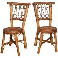 Vintage Bamboo Chairs Pair Of Vintage Bamboo Chairs At 1stdibs