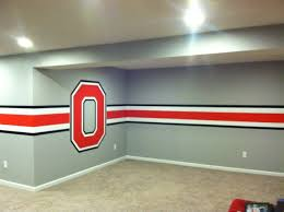 Ohio State Outdoor Rug State Themed Basement