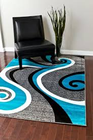 Blue And Black Rug Best Accent Area Rugs For Entry Way Kitchen Bedroom Carpet
