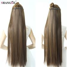 synthetic hair extensions shangke 80 cm women clip in hair extensions heat