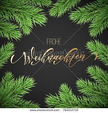 feliz navidad spanish merry christmas holiday stock vector