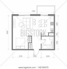 Floor Plans With Furniture Architectural Floor Plan Vector U0026 Photo Bigstock