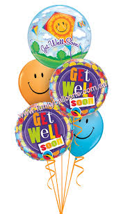 get well soon and balloons get well funky balloons melbourne vic helium balloon gift
