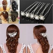 beautiful hair pins 40pcs lot women beautiful wedding bridal rhinestone pearl