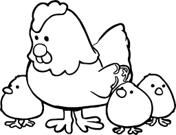 hen and cartoon coloring page wecoloringpage