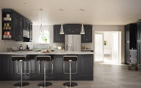 Assembled Kitchen Cabinets by Roosevelt Black Pre Assembled Kitchen Cabinet The Rta Store