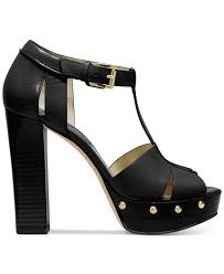 michael kors michael beatrice platform sandals in black lyst