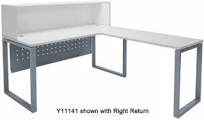 White L Shape Desk White L Shaped Reception Desk
