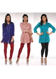 combo offer of 3 tunics and 2 leggings by voguish homeshop18 com