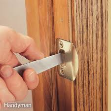 How To Install A Lock On A Cabinet Door How To Repair Interior Doors Family Handyman