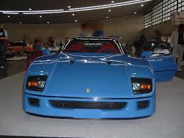 blue f40 and concept cars f40