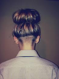 redhair nape shave nape undercut bun long hair fryzury pinterest undercut and