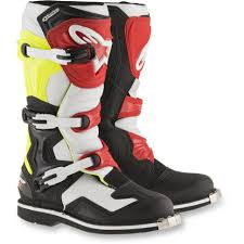 white motorcycle boots alpinestars tech 1 boots black white yellow red get lowered cycles