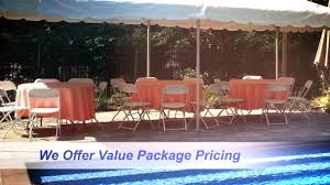 Table And Chair Rentals Long Island Tent Rental Long Island Youtube