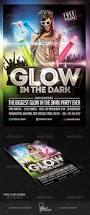 glow in the dark party flyer template party flyer club parties