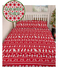 Double Christmas Duvet Mickey And Minnie Mouse Christmas Double Duvet Cover Set Bedding