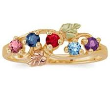 gold mothers rings curved shank mothers birthstone ring choice of metals