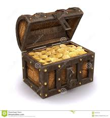 3d pirates treasure chest stock illustration image 42052321