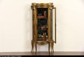 Antique Brass Display Cabinet Furniture Engaging Antique Asian Style Ball U0026 Claw Foot Curio