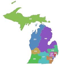 area code map of michigan list of michigan area codes