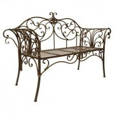 White Metal Outdoor Bench Wrought Iron Patio Benches Foter