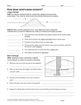 what are erosion and deposition earth science printable 6th 12th
