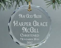personalized baptism ornament baptism ornament etsy