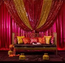 Hindu Wedding Supplies Henna And Maticoor Stage Set Up Bollywood Orange And Fuschia
