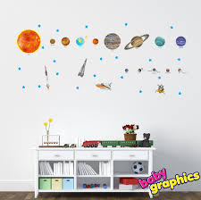 solar system wall decals vinyl stickers removable zoom