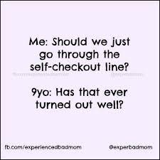 Self Checkout Meme - funny motherhood memes roundup experienced bad mom
